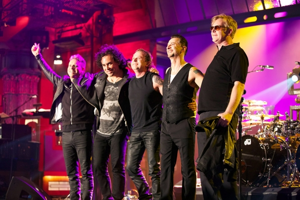 """Depeche Mode takes their bows at the close of their """"Live On Letterman"""" concert."""