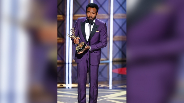 Donald Glover wins Outstanding Directing for a Comedy Series at The 69th Emmy Awards.
