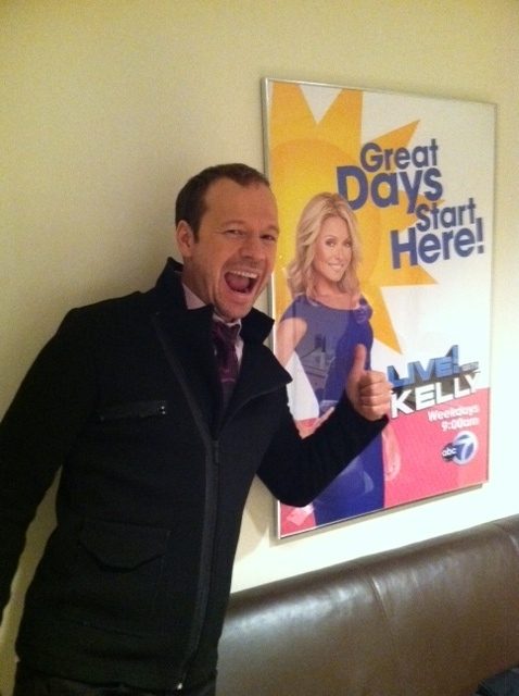 Donnie Wahlberg Visits Live with Kelly