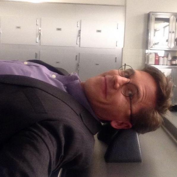 NCIS Instagram:  Nap time in autopsy!!! #ncis #cbsinstagramtakeover - Brian Dietzen