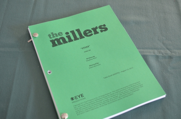 The script- The Millers- Thursdays 8:30/7:30c