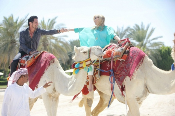 Bill and Brooke rode hand-in-hand through Dubai.
