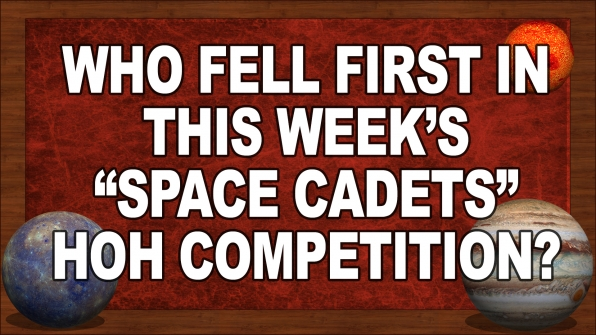 "Who fell first in this week's ""Space Cadets"" HOH Competition?"