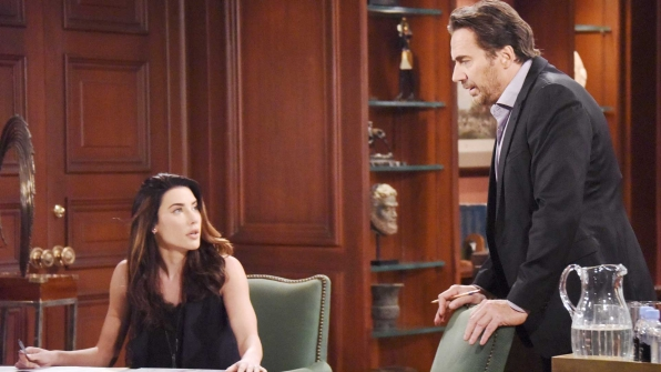 Steffy attempts to bring Ridge and Thomas together following their recent fallout.