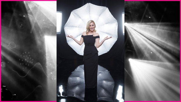Kellie Pickler dons a sleek black evening gown deserving of its own celebration.