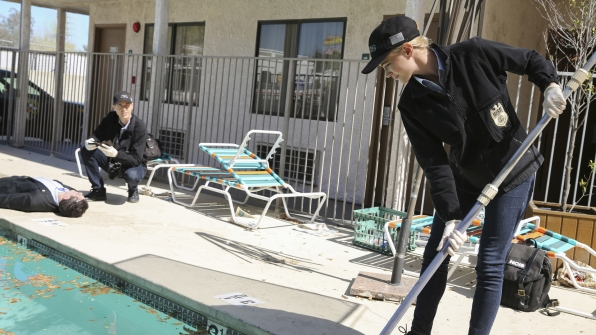 Bishop takes pool-cleaning to the next level.