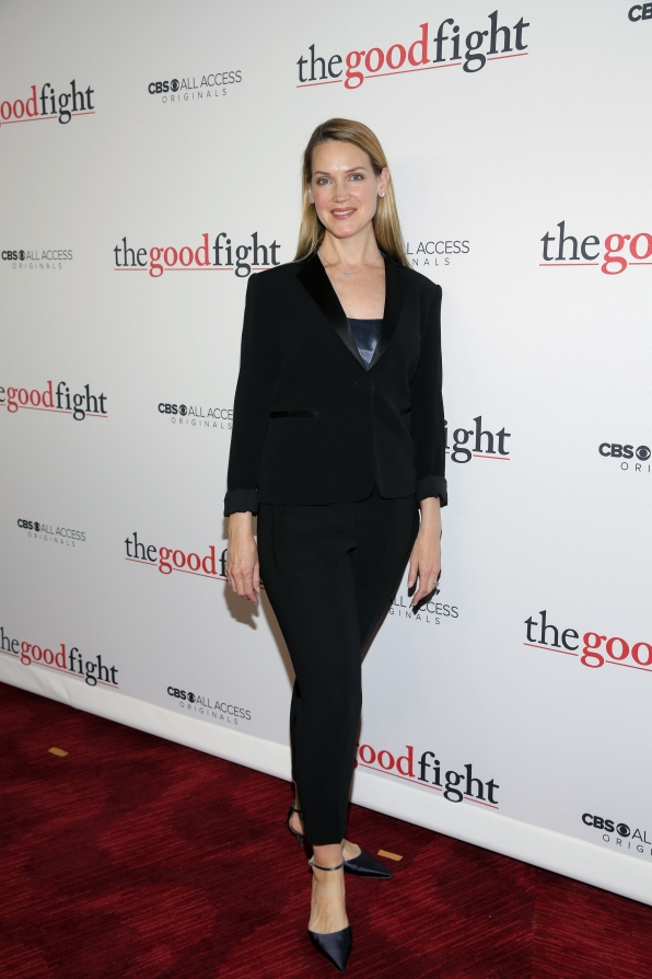 Francie Swift looks luxe in a tux.