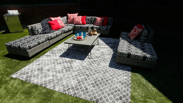 The outdoor lounge corner will tempt the Houseguests in a few ways.