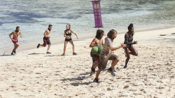 It's a race to the sand for these hungry competitors.