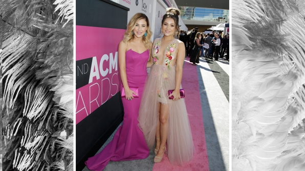 Maddie & Tae pop in spring-ready colors.