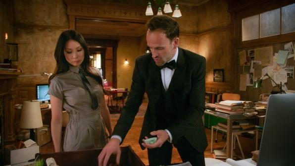 Jonny Lee Miller as Sherlock Holmes and Lucy Liu Dr. Joan Watson