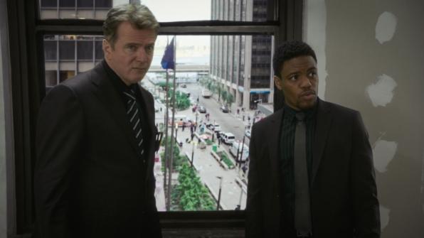 Aidan Quinn as Captain Thomas Gregson and Jon Michael Hill as Detective Marcus Bell