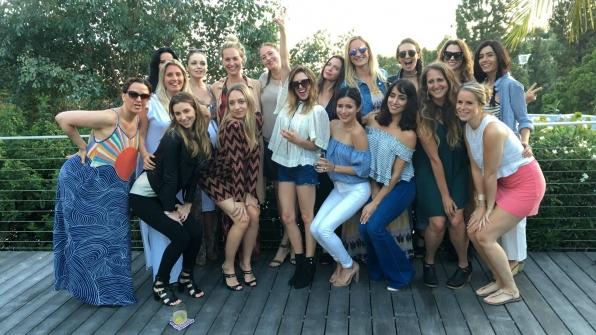 Elizabeth Hendrickson spent her birthday surrounded by good friends.