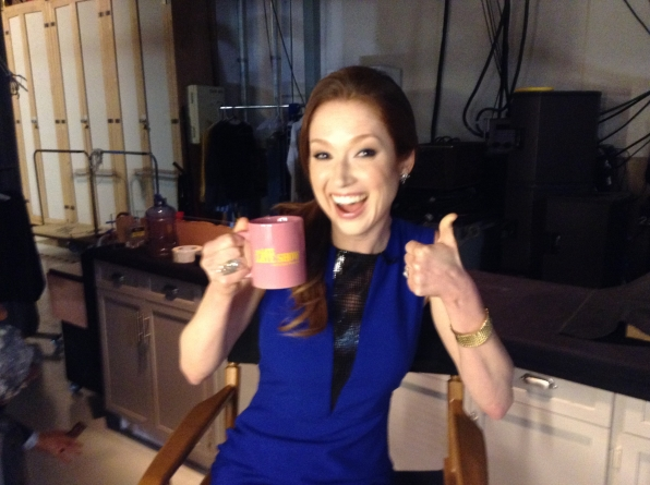 Ellie Kemper - Behind the Scenes at The Late Late Show