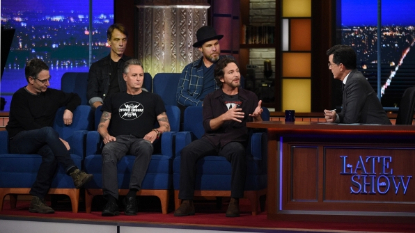 Pearl Jam and Stephen Colbert
