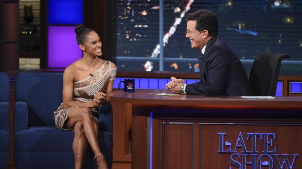 Misty Copeland and Stephen Colbert
