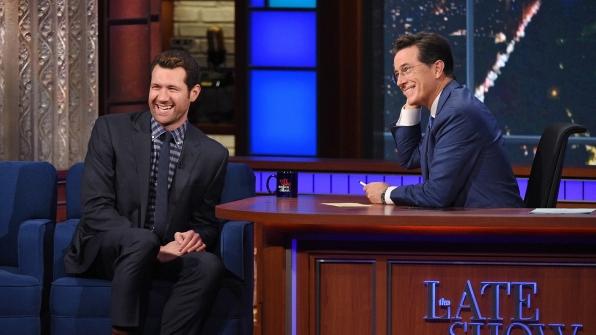 Billy Eichner and Stephen Colbert