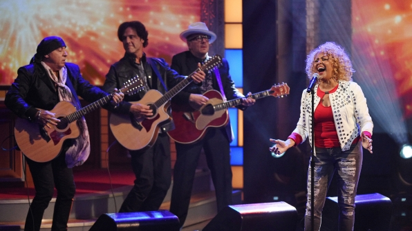 Darlene Love and Elvis Costello