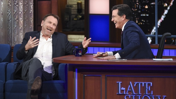 Colin Quinn and Stephen Colbert