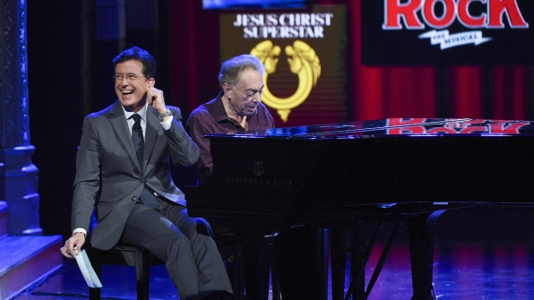 Andrew Lloyd Webber and Stephen Colbert