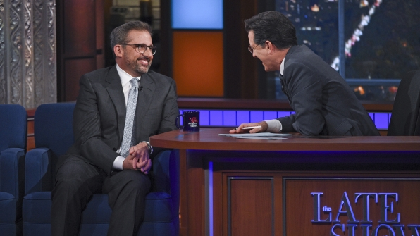 Steve Carell and Stephen Colbert