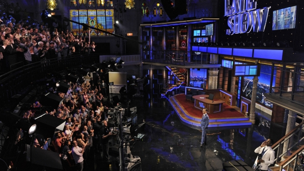 Stephen Colbert in the Ed Sullivan Theater