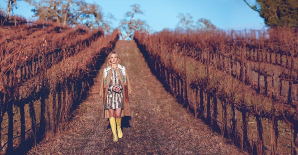 Emily Wickersham Takes to the Country - Watch! Magazine August 2014