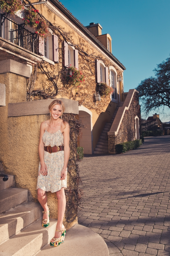 Emily Wickersham on the Steps - Watch! Magazine August 2014