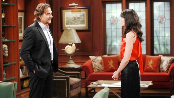 Much to Ridge's dismay, Quinn shares her plan for the upcoming Forrester Creations fashion show.