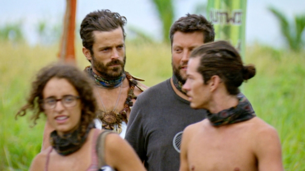 Ken enjoys the last moments of his recent Immunity before he hands over his necklace.
