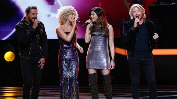 Little Big Town performs as part of the opening medley at Bee Gees Tribute