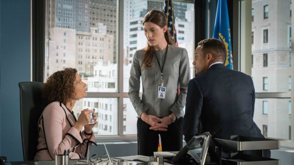 Mary Elizabeth Mastantonio as Nasreen Pouran, Hill Harper as Agent Spellman Boyle, and Jennifer Carpenter as Agent Rebecca Harris