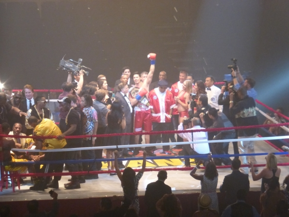 The fight required real contact and the actors were taken through a brief training on how to hit each other without injury.
