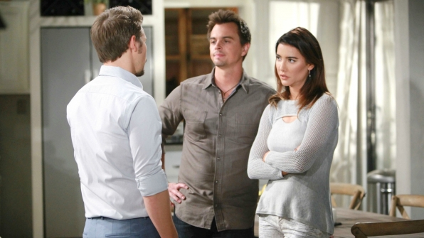 Wyatt tells Liam to back away from Steffy.