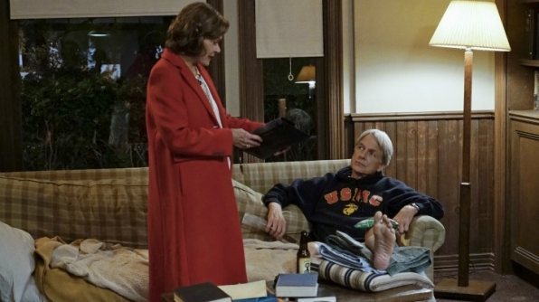 Jessica Walter as Judith McKnight and Mark Harmon as Leroy Jethro Gibbs