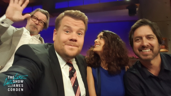 Gary Oldman, Salma Hayek and Ray Romano