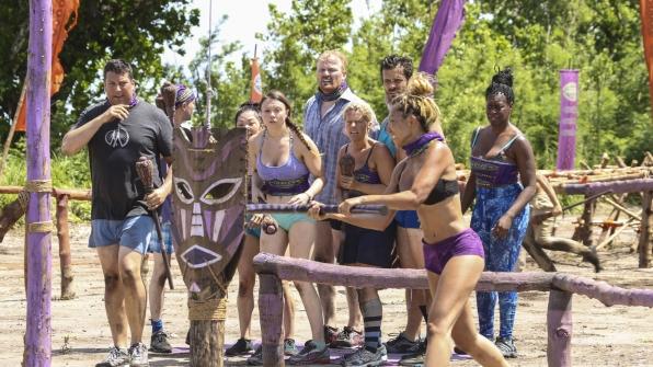 Members of the Takali Tribe watch fellow Gen X-er Rachel Ako compete.