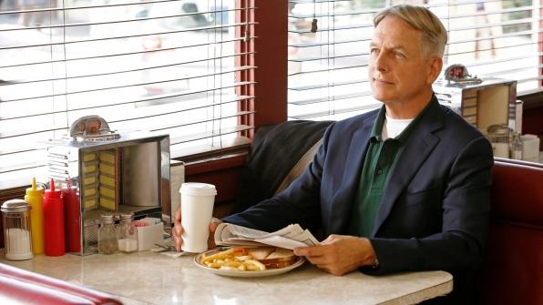 Grabbing a cup of joe at Gibbs' coffee shop