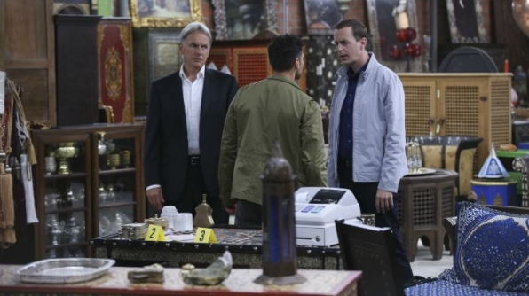 Mark Harmon as Leroy Jethro Gibbs, John Gabriel as DEA Agent Luis Mitchell, and Sean Murray as Timothy McGee