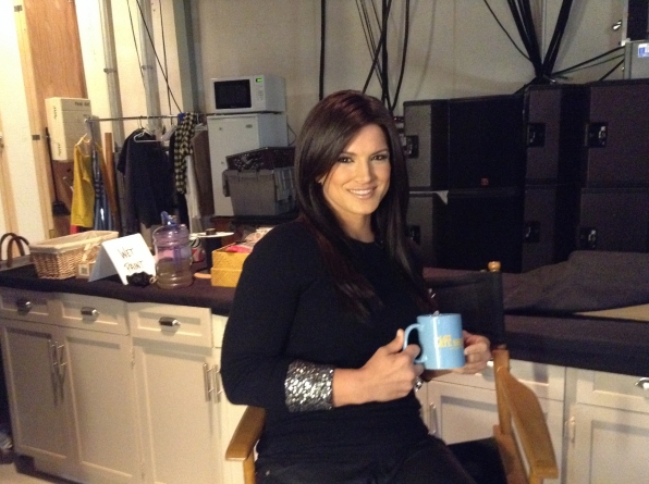 Gina Carano - Behind the Scenes at The Late Late Show