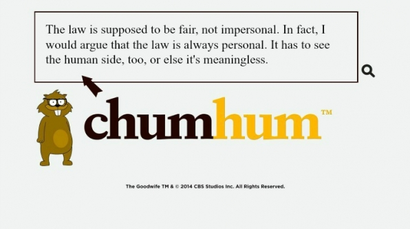 """The law is supposed to be fair, not impersonal. In fact, I would argue that the law is always personal. It has to see the human side, too, or else it's meaningless."""