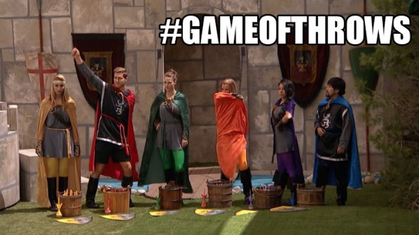 The Houseguests catapult their way into the POV competition.