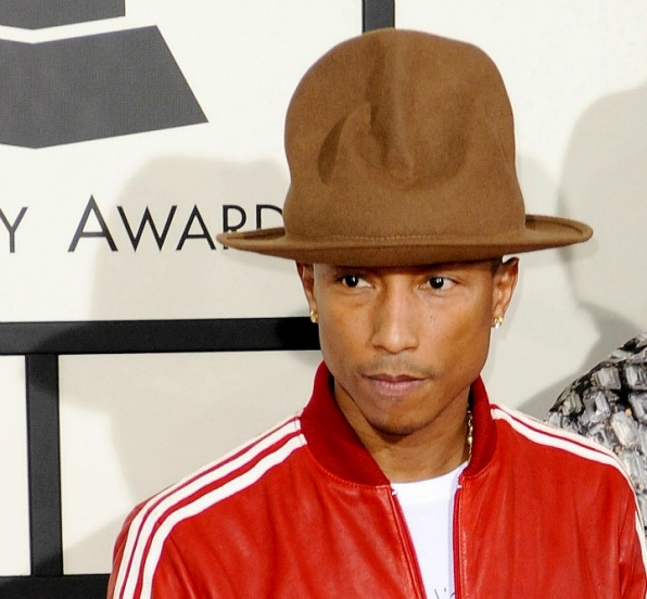 Pharrell's enormous hat was the talk of the town.