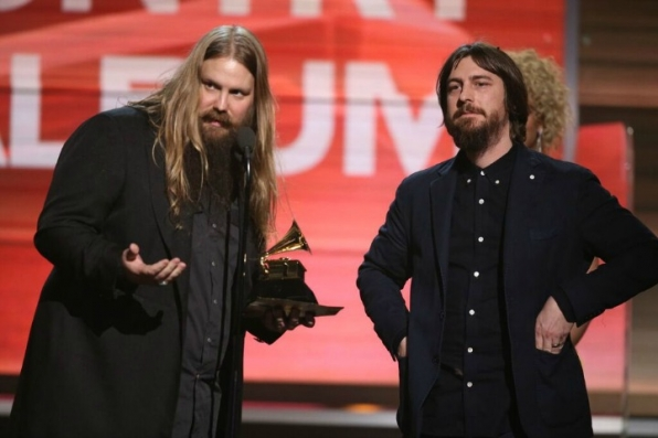 Chris Stapleton accepts the GRAMMY for Best Country Album.