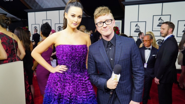 GRAMMYs 2016: Kacey Musgraves and Tyler Oakley
