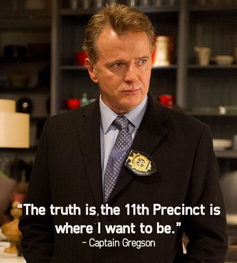 3. Captain Gregson knows what is in his heart.