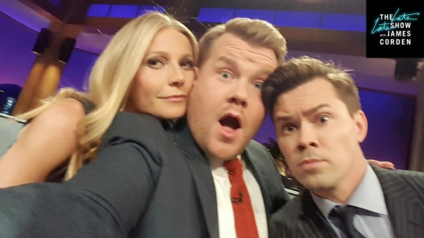 Gwyneth Paltrow and Andrew Rannells