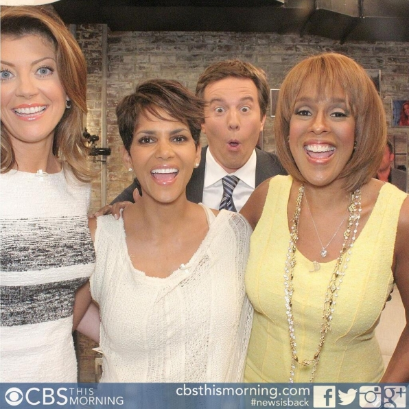 18. Halle Berry, Norah O'Donnell, Gayle King and Jeff Glor - Extant and CBS This Morning