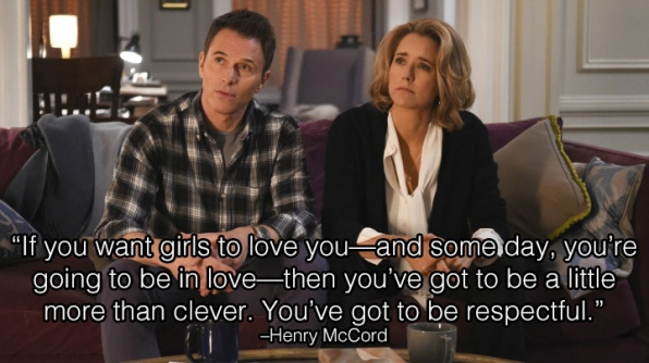 4. Henry has the best relationship advice.