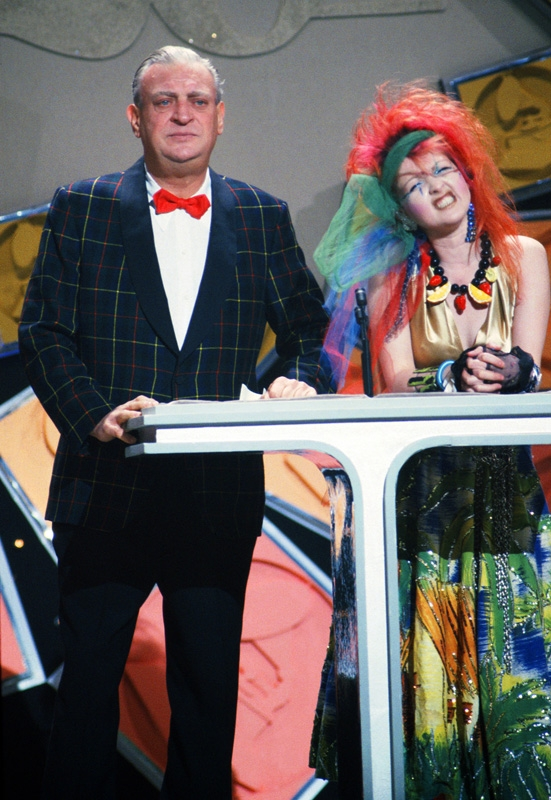 Rodney Dangerfield and Cyndi Lauper